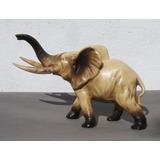 Hist.*-elefante Porcelana Colmillos Tipo Marfíl 16,5cm-envío