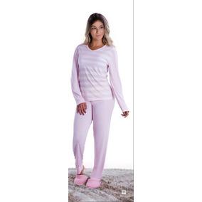 Pijama Roupa Dormir Longo Adulto Feminino Inverno Frio Promo