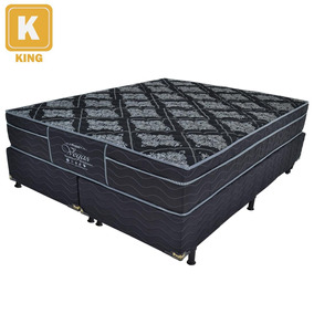 Cama Box King Size Probel + Colchão Molejo 55 X 193 X 203cm