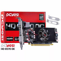 Placa De Vídeo Vga Pcyes Amd Radeon Hd 6570 2gb Ddr3 128bits