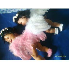 Bebê Reborn Asas De Anjo Somente As Asas Brinde 1 Tiara