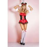Disfraz De Minnie Mouse Premiun Con Medias - Sex Appeal