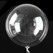 50 Unidades Balão Bubble 18 Polegadas Silicone Transparente