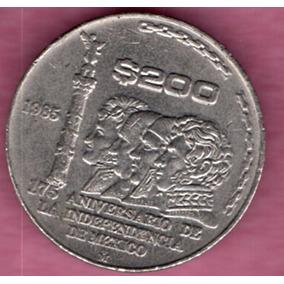 Moneda $200 Pesos Conmemorativa 175 Años Independencia C2