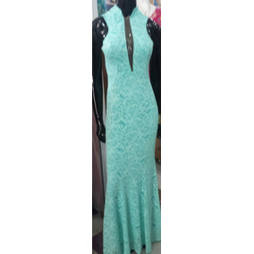 Lindo Vestido Festa Madrinha Casamento Sereia Verde Tiffany