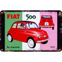 Carteles Antiguos Chapa Gruesa 60x40cm Fiat 600 500 Au-643