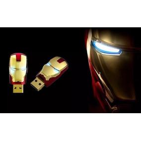 Pendrive 8gb Homem De Ferro Iron Man Marvel Ascende Luz