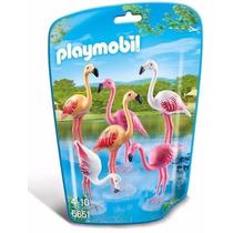 Retromex Playmobil 6651 Flamingos Aves Animal Zoologico