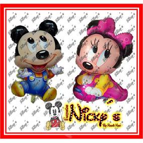 Globo De Minnie Mouse O Mickey Mouse Bebe De 90 X 50cm