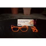 Lentes 3d Lg Ag-f200 Muy Bien Cuidados. Color Naranja