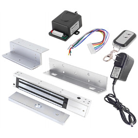 Kit Chapa Magnética 600 Lb Mag600led Control Acceso Remoto