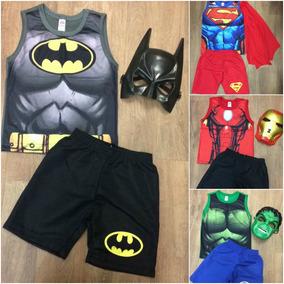 Roupa Infantil Superman Hulk Batman Homem De Ferro