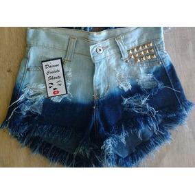 Short Jeans Customizado Ombré