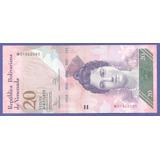 Billete 20 Bs Unc De Agosto 2014 W8 Dificil Bs.s. 185,00