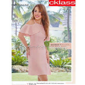 Vestido Palo De Rosa 932-14 Cklass.. Outlet/saldos Mchn