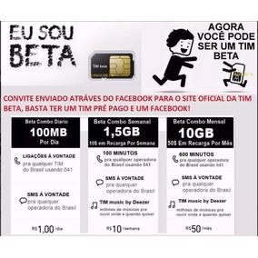 Convite Tim Beta 10gb + 600min + Dicas Para Beta Lab 20 Gb.