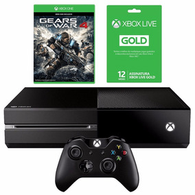 Xbox One 500gb + Live 12 Meses + Controle Wireless