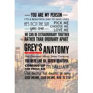 Placa Quadro Decorativo Seriado Grey's Anatomy (v624)