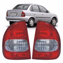 Lanterna Traseira Corsa Sedan 2000 2001 2002 C/ Ré Fumê