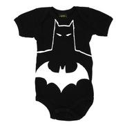 Pañalero Batman Disfraz Antifaz Héroe Negro Ropa Bebe 26163