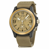 Relógio Masculino Victorinox 241533 Cronógrafo Bege