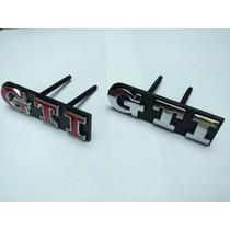 Emblema Gti Gol Golf Polo Para Grade Todo Em Metal