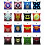 Almofada Personalizada Decoração Logo Super Heróis