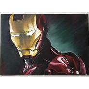Pintura A Óleo Homem De Ferro - Iron Man 100x70