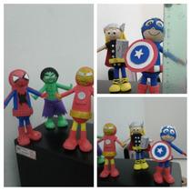 Centro Para Tortas Super Heroes De Cumpleaños De Goma Eva