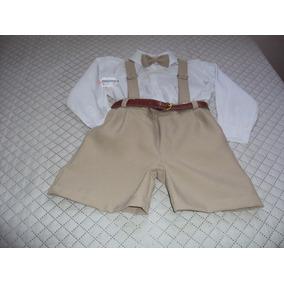 Conjunto Roupa Social Infantil Festa Pajem Camisa/bermuda