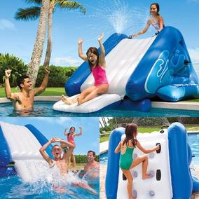 Escorregador Inflável Gigante Intex Water Slide + Bomba