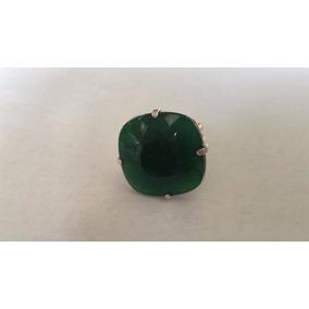 Jfa - Anel Em Prata 925 Com Jade Verde !!!