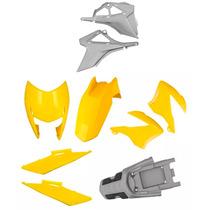 Kit Carenagem Plásticos P/ Honda Bros 150 Ano 2009 - Amarelo