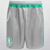 Shorts De Jogo Palmeiras Iii adidas Prata 2016