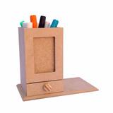 Kit 10 Porta Lápis Gaveta - Mdf - Crú - Lembrancinha
