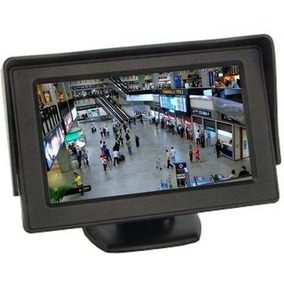 Tela Monitor 4.3 Lcd Portátil Veicula Câmera Ré Dvd Cftv Tft