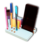 Dock Base Madera Dc03 Celular iPhone Tarjetero Escritorio