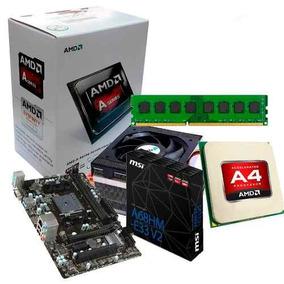Combo Actualización Amd Apu A4 4400 + Mother Fm2 + 2gb