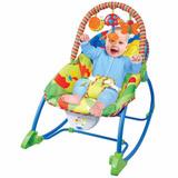 Cadeira Bebê Descanso Vibratória Musical Balanço Animais