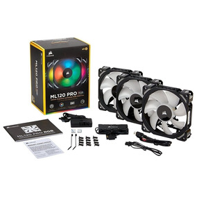Fan Cooler Gamer Corsair Ml120 Pro Rgb 3 X 120mm