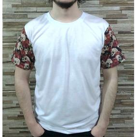 Kit 10 Camisetas Para Sublimar Manga Floriada E Caveiras
