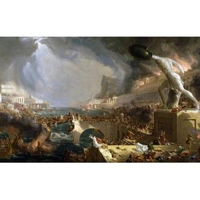 Lienzo Tela Tomas Cole Curso Del Imperio Destrucción 70x44cm