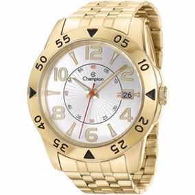 Relógio Champion Masculino Dourado Ca31257h C/ Nota