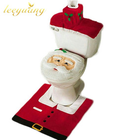 Jogo De Tapete Banheiro 3 Peças Natal Lindos Decoração