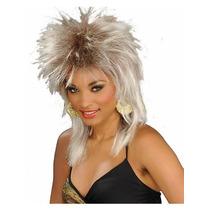 Peluca Rocker (rubia) Largo Unisex Adult Halloween Costume