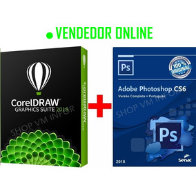 Kit Corel Draw Graphics Suite 2018 + Photoshop Cs6 Original