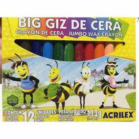 Big Giz De Cera - 12 Cores Acrilex