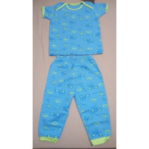 Pijama Bebe Varon Ovejita 100% Algodon 6/9 Y 12 Meses