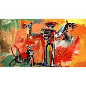 Lienzo Tela Canvas Grafiti Jean-michel Basquiat Boy And Dog