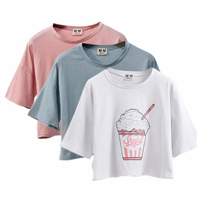 Top Cropped Blusa Camiseta T Shirt Feminina Curta Roupas